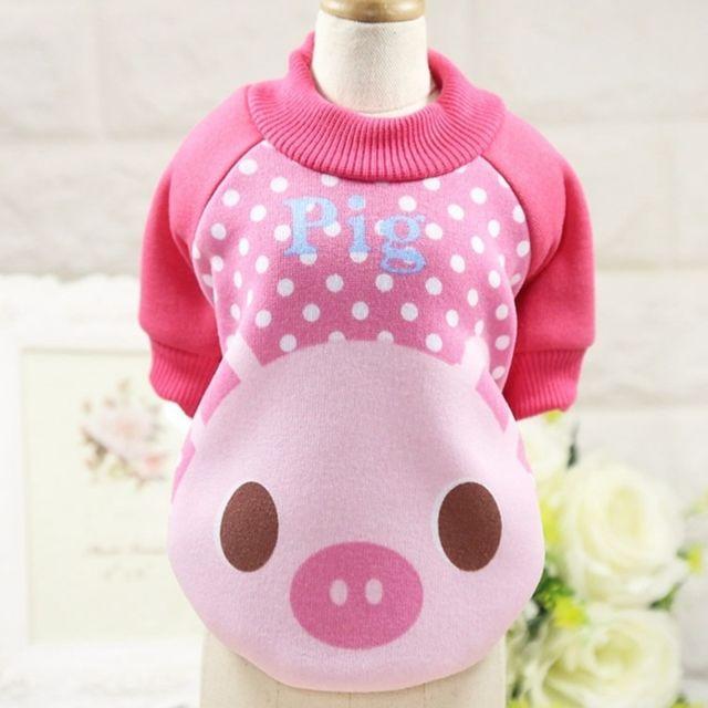 Wewoo Vêtements pour chien Miniature Pull Teddy animaux domestiques Col rond Toison décontractéeTaille S Rose rouge