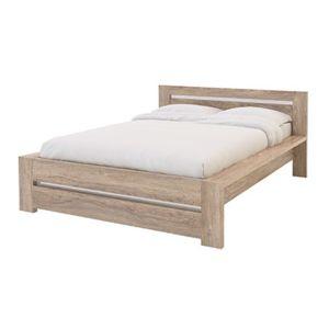 lit 140x190cm montreal bois naturel pas cher achat
