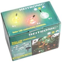 Heitronic - 36889 Guirlande lumineuse solaire Carnival