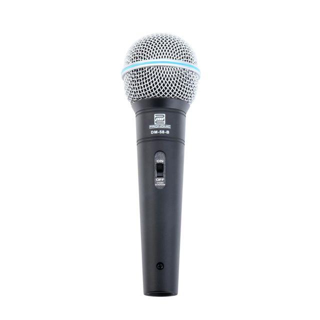 Pronomic - Vocal Microphone Dm-58 -b avec Interrupteur set avec sac - pas cher Achat / Vente Micros chant - RueDuCommerce