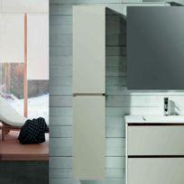 Colonne de salle de bain 2 portes - Caramel - 160x35 cm - Mia