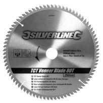 Silverline - Lame de scie circulaire carbure diam 250x30, 80 dents pour  placages c36bf95862b5