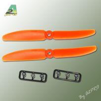 Gemfan - Hélice FPV Racer Orange – 5x4 CCW anti-horaire 2 pcs