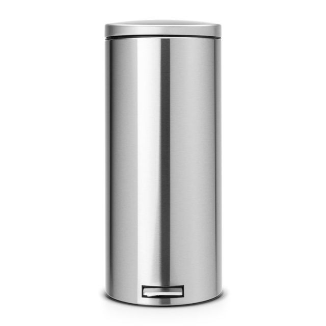 Brabantia Poubelle à pédale, 30 litres, MotionControl - Matt Steel Fingerprint Proof