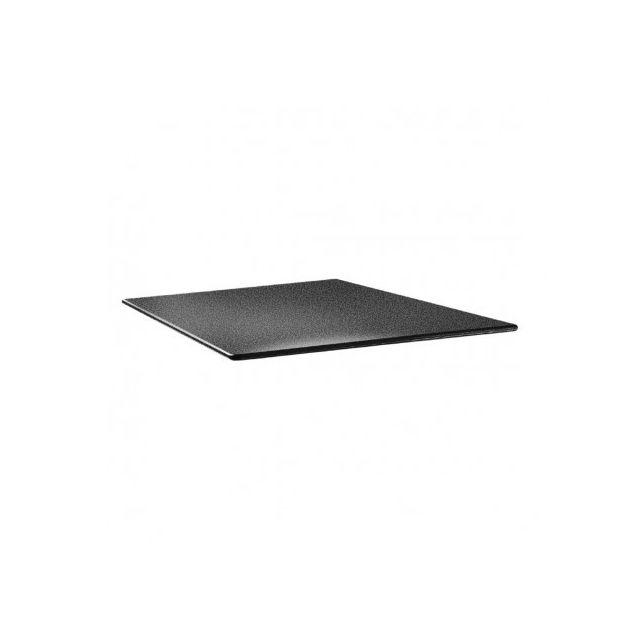 Topalit Plateau de table carré - Smarline anthracite 800 mm - Anthracite 800 mm