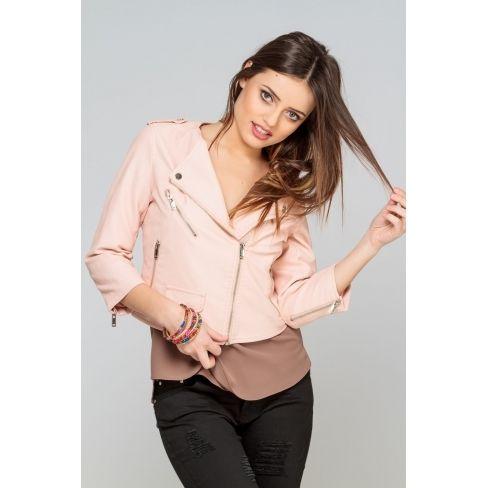 Rose Boutique Pas Princesse Simili Cuir Achat Cher Vente Veste CqddwE