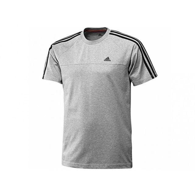5de26a17a2969 Adidas - ESS 3S CREW TEE GRI - Tee Shirt Entrainement Homme Adidas Gris XS