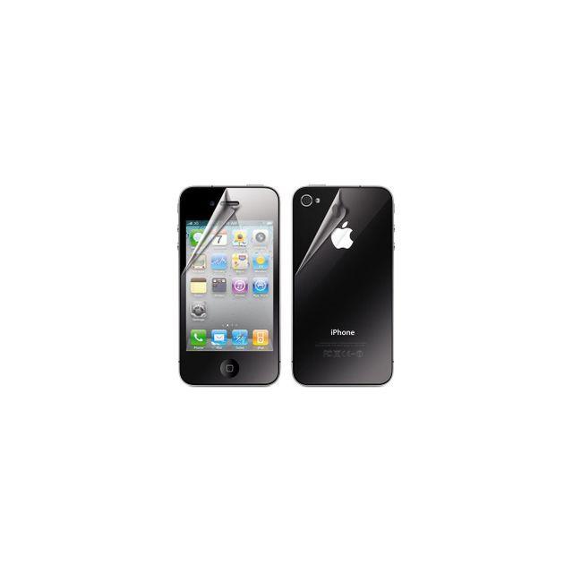 Xqisit - Protection écran avant et arrière pour iPhone 4 / 4S