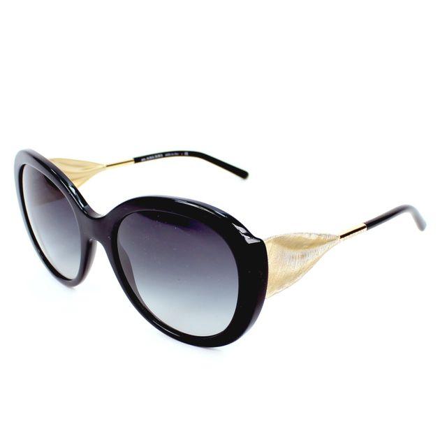 Burberry - Lunettes de solei Be-4191 3001 8G Femme Noir - pas cher Achat   Vente  Lunettes Tendance - RueDuCommerce c800bbbd782