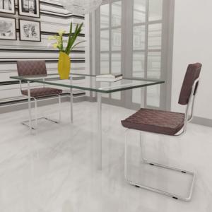 Rocambolesk - Superbe 2 pcs Chaise de salle à manger en similicuir Brun Neuf