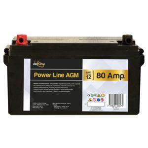 elektron batterie auxiliaire power line agm 80 amp res pas cher achat vente confort. Black Bedroom Furniture Sets. Home Design Ideas