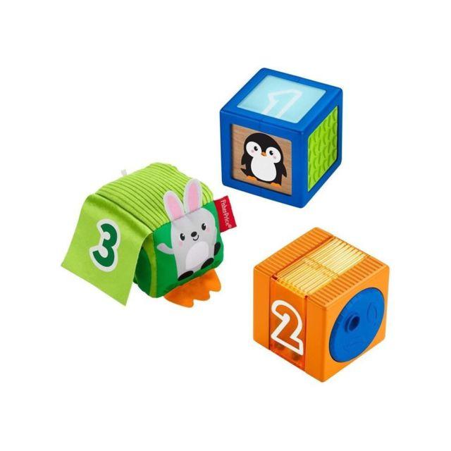 Fisher Price Fisher-price Nouveaux Cubes d'Éveil Surprises - Gjw13 - Jouet d'éveil - 6 mois et