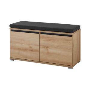 autre meuble banc chaussures 8 paires en bois avec coussin pas cher achat vente. Black Bedroom Furniture Sets. Home Design Ideas