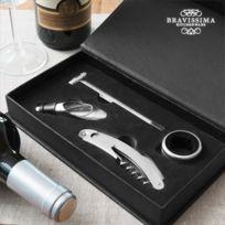 Exclusif Shopping Vip - Set d'Accessoires pour Vin Bravissima Kitchen 4 pièces