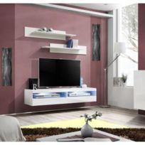 Exceptionnel Price Factory   Meuble Tv Fly Design, Coloris Blanc Brillant. Meuble  Suspendu Moderne Et