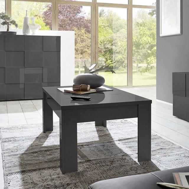 Kasalinea Table basse de salon gris laqué design Dominos 2