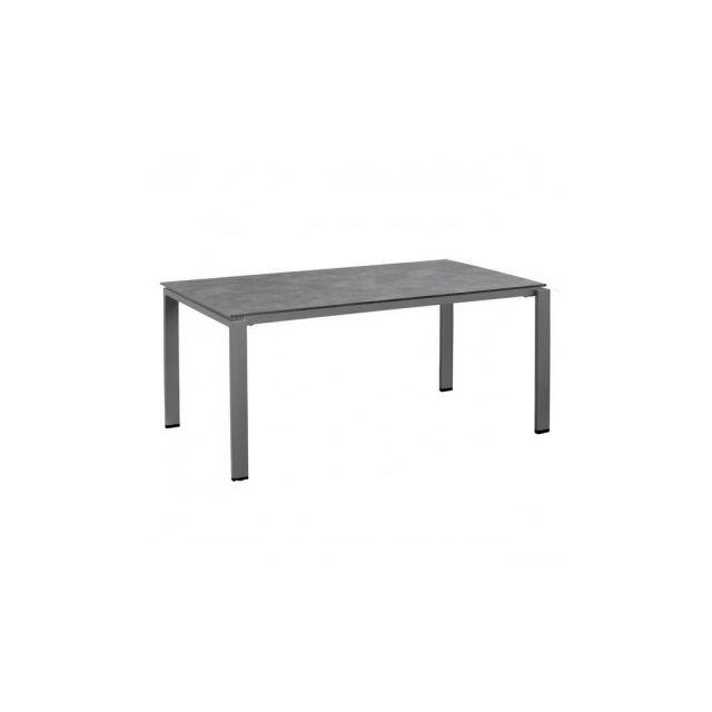Kettler - Table de jardin rectangulaire Hpl 220 x 95 x 74 cm Argenté ...