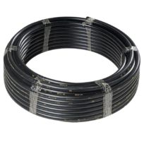 Polypipe - Tube noir non alimentaire Ø 20 mm 50 m - 119020