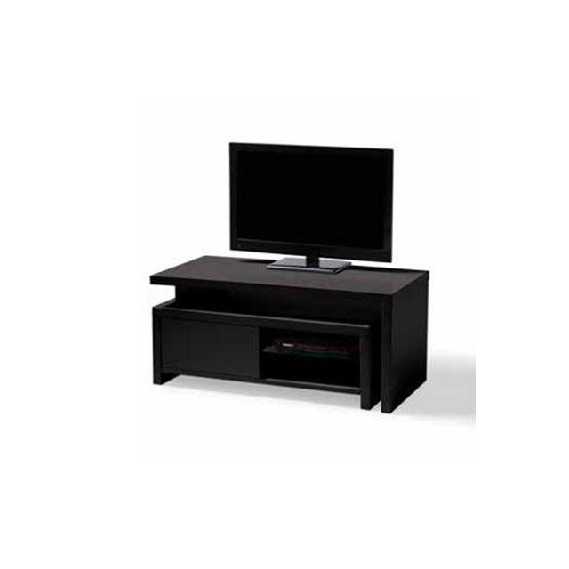 Meuble Tv avec caisson amovible noir