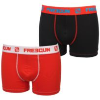 Freegun - Sous vêtement boxer Duo d black red boxer Noir 46366