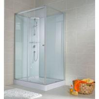 SCHULTE - Cabine de douche complète, 120 x 80 x 190 cm, cabine de douche intégrale avec portes coulissantes, verre transparent, ouverture vers la gauche, Corsica