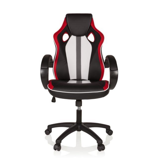 De Simili Rouge Bureau Blanc Cuir Chaise Gaming Player 5jLAR4
