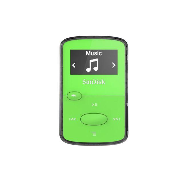 SANDISK lecteur mp3 8Go - vert Rendez de nouveau amusant la musique en déplacementCliquez sur le lecteur de musique numérique Clip Jam™ compact et coloré et emmenez-le partout ! L'écran d'un pouce lumineux et les grands b