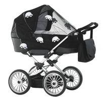 Baby Dan - Moustiquaire de landau - Noir motif voiture réfléchissante