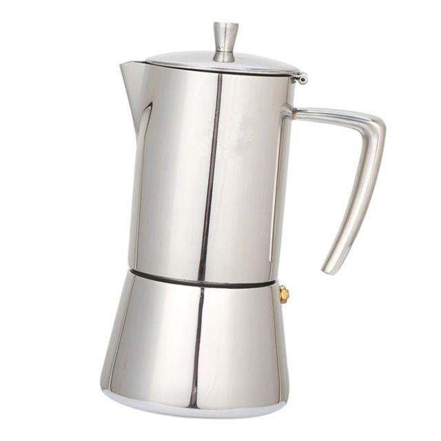 cafetière en acier inoxydable moka maker percolateur bouilloire goutte à goutte 200 ml 4 tasses