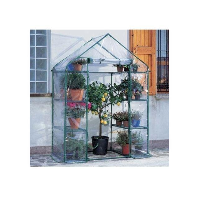 Maison futee serre de jardin cadre m tal avec housse en pvc anti uv pas cher achat vente - Serre de jardin carrefour ...