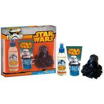 Stars Wars - Coffret Cadeau - Eau de Toilette 140ml, Gel Douche et Shampoing 2en1 Avec Une Eponge 3D - Star Wars