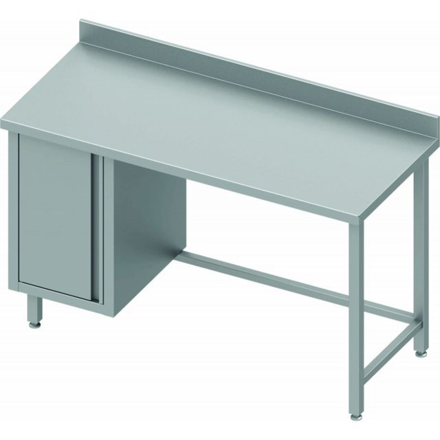 Materiel Chr Pro Table de Travail Inox Avec Porte A Gauche - Gamme 800 - Stalgast - inox 800x800 800