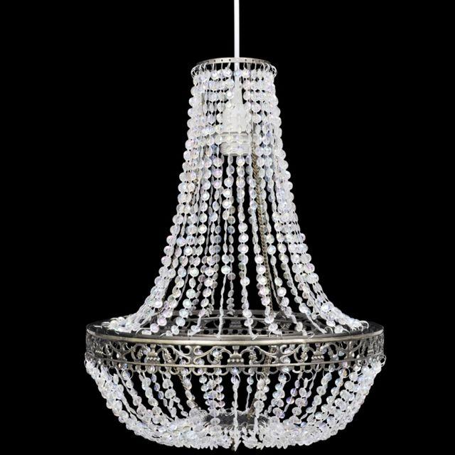 CASASMART Lustre suspendu en cristal 36,5 x 46 cm