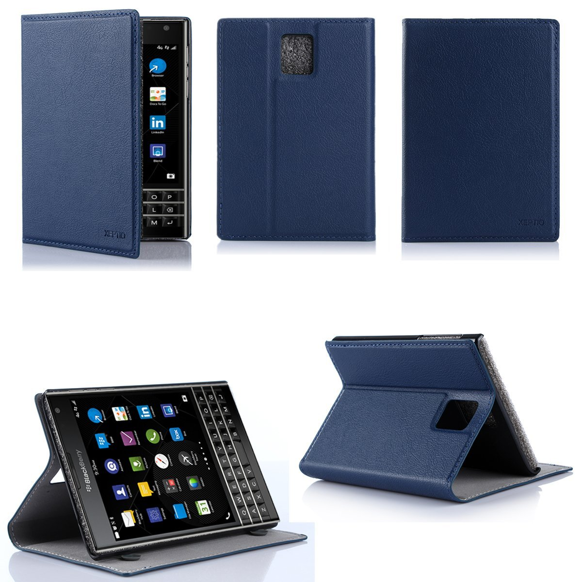 Xeptio - Blackberry Passport bleu avec stand