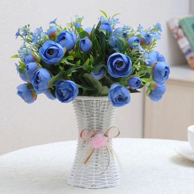 Pot En Plastique Pour Fleurs Et Fleur Artificielles Taille Moyenne Pour Balcon Jardin Plante Vase De Decoration De Maison Ruban Couleur Aleatoire