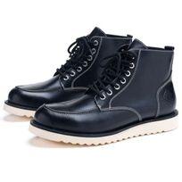 RIDE & SONS - Desert Moc Mid Boot Black