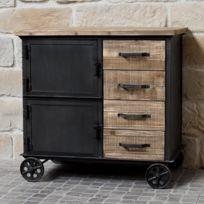 petit meuble a roulettes achat petit meuble a roulettes pas cher rue du commerce. Black Bedroom Furniture Sets. Home Design Ideas