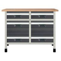 Wolfcraft - Etabli d'atelier 1130x650x860 mm 6 tiroirs - 8070000