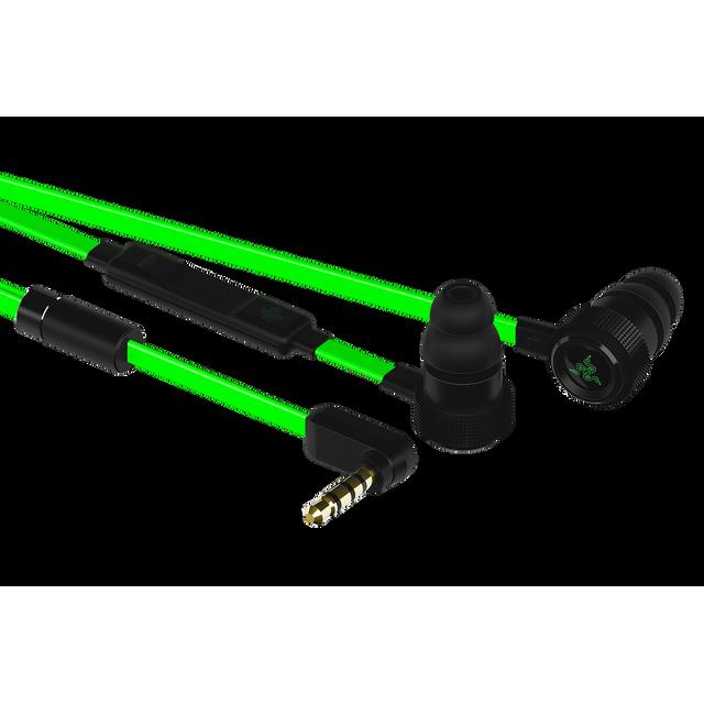 RAZER Hammerhead Pro V2 D'une conception soigneusement revue, le Razer Hammerhead Pro est de plus en plus solide, avec un design amélioré et des câbles plats pour augmenter la mobilité du joueur qui est en vous.
