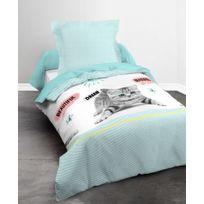 La Maison D'AMELIE - Parure de couette 100% coton 57 fils 140x200 Sunny Cat