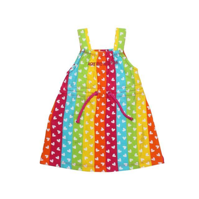 93a72e90ea3c8 Agatha Ruiz De La Prada - Agatha Ruiz - Robe fille imprimée coeurs -  Multicolore