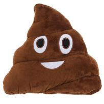 Character World - Peluche Coussin Emoji Caca