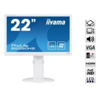 Iiyama - Ecran LED 22 Full HD 5ms VGA/DVI/HDMI avec Pivot - Blanc