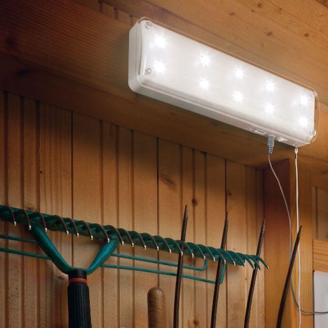 Lampe solaire abri de jardin 10 LEDS avec sensor
