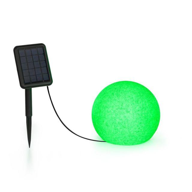 BLUMFELDT Shinestone Solar 20 - Lampe Ø 20cm pour jardin & terrasse - Panneau solaire - 16 couleurs - Batterie lithium-ion