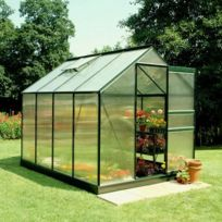 Halls - Serre Forest Green Popular en polycarbonate - Modèle : 86 Surface : 5.0 m²