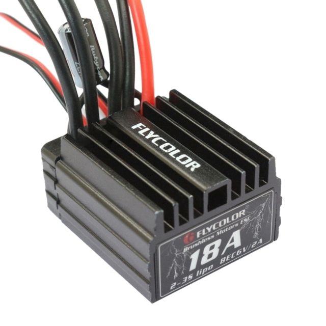 wewoo pour voiture rc flycolor thunder series 18a contr leur de vitesse lectronique sans. Black Bedroom Furniture Sets. Home Design Ideas