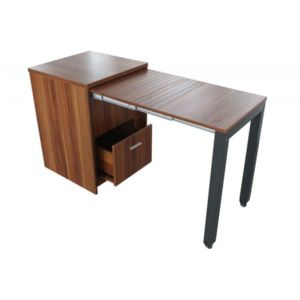 declikdeco commode bureau coulissant ch ne clair pas. Black Bedroom Furniture Sets. Home Design Ideas