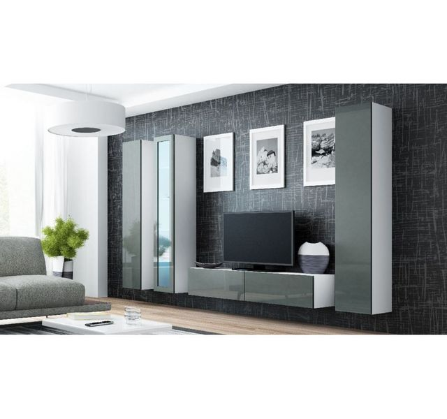 0d5203b8cb2329 Chloe Design - Meuble tv design suspendu Rami 15 - blanc et gris ...