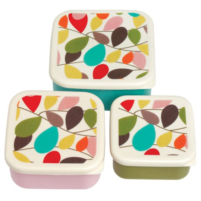 Dotcomgiftshop Set de 3 Boites Lunch Vintage Ivy